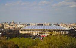 Ideia do estádio de Luzhniki, Moscou foto de stock royalty free