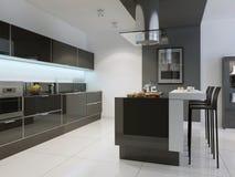 Ideia do estilo do techno da cozinha Fotografia de Stock Royalty Free