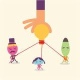 A ideia do homem de negócios conecta desenhos animados Imagem de Stock Royalty Free