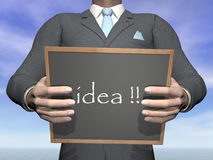 Ideia do homem de negócios - 3D rendem Imagem de Stock