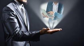 Ideia do homem de negócios disponível fotografia de stock royalty free