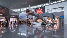 Ideia do interior do aeroporto internacional de Incheon, Seoul, Coreia do Sul imagem de stock royalty free