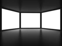 Ideia do interior do quarto escuro Ilustração do Vetor