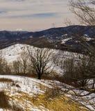 Ideia do inverno da cordilheira do Condado de Highland imagens de stock