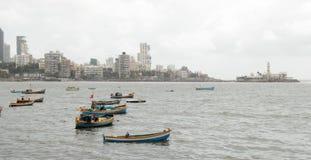 Ideia do litoral de Mumbai do mar árabe imagens de stock royalty free