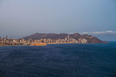 Ideia do litoral em Benidorm Imagens de Stock
