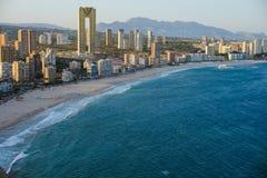 Ideia do litoral em Benidorm Fotografia de Stock