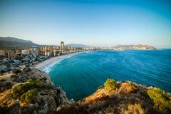 Ideia do litoral em Benidorm Fotos de Stock Royalty Free