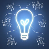 Ideia do negócio com trabalhos de equipa Imagem de Stock