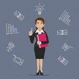 Ideia do negócio da mulher de negócios Fotos de Stock Royalty Free