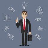 Ideia do negócio do homem de negócios Fotografia de Stock