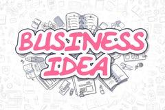 Ideia do negócio - texto da magenta da garatuja Conceito do negócio ilustração stock