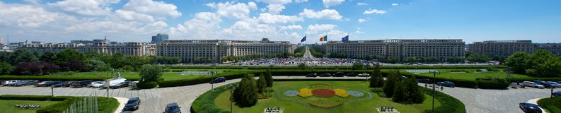 Ideia do palácio de Ceausescu do parlamento Bucareste Romênia Europa foto de stock royalty free