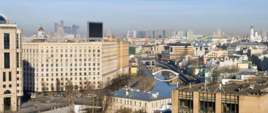 Ideia do panorama da parte central de Moscovo Fotos de Stock Royalty Free