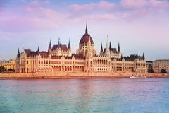 Ideia do parlamento em Budapest, Hungria Foto de Stock Royalty Free