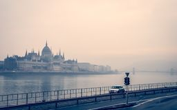 Ideia do parlamento húngaro em Budapest fotografia de stock