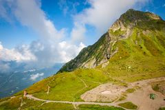 Ideia do pico de montanha nas dolomites fotografia de stock royalty free