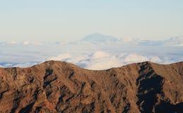 Ideia do pico de Teide do EL Roque de los muchachos imagem de stock