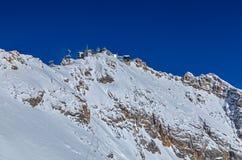 Ideia do pico de Zugspitze, Alemanha Imagem de Stock