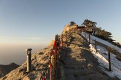 Ideia do pico ocidental da montagem Huashan, China Fotografia de Stock