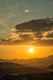 Ideia do por do sol de Hak Observatory Foto de Stock