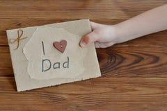 Ideia do presente para o paizinho da filha Foto de Stock