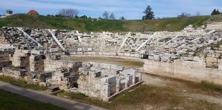 Ideia do primeiro teatro antigo de Larissa fotos de stock