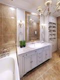 Ideia do projeto clássico luxuoso do banheiro Foto de Stock Royalty Free