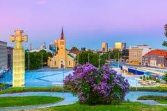 Ideia do quadrado da liberdade em Tallinn, Estônia Imagem de Stock Royalty Free