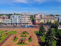 Ideia do quadrado de Soborna, Vinnytsia, Ucrânia imagem de stock