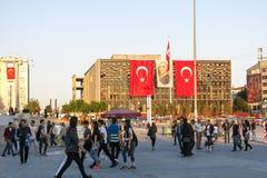 Ideia do quadrado famoso de Taksim em Istambul Turquia Imagem de Stock