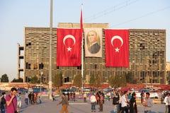 Ideia do quadrado famoso de Taksim em Istambul Turquia Imagem de Stock Royalty Free