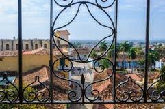 Ideia do quadrado principal em Trinidad, Cuba fotografia de stock royalty free