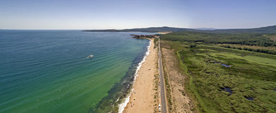 Ideia do recurso do mar de Dyuni de cima de, Bulgária imagens de stock royalty free