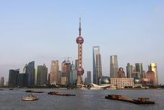 Ideia do rio da skyline de Shanghai, China Imagem de Stock Royalty Free