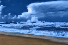 Ideia do seascape da tempestade Fotografia de Stock Royalty Free