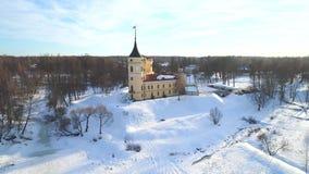 Ideia do sinal acústico velho Mariental do castelo Pavlovsk, v?deo da antena de R?ssia filme