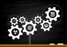 Ideia do sucesso na forma da engrenagem como o conceito da inspiração Imagem de Stock