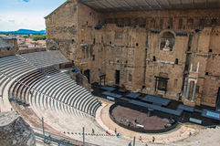 Ideia do teatro romano da laranja Imagens de Stock Royalty Free
