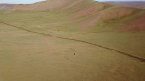 Ideia do zangão da paisagem do Mongolian filme
