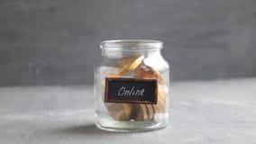 Ideia dos Internet banking vídeos de arquivo