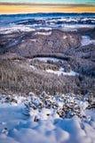 Ideia dos picos de montanha da fuga de montanha Fotografia de Stock Royalty Free