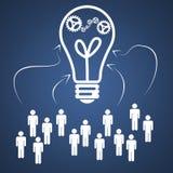 Ideia dos trabalhos de equipa do negócio Imagens de Stock