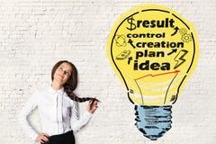 Ideia e conceito da criação imagem de stock