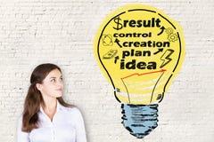 Ideia e conceito da criação fotografia de stock