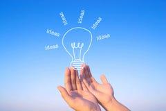 Ideia e conceito da inspiração Foto de Stock Royalty Free