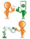 Ideia e dinheiro ilustração royalty free