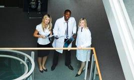 Ideia elevada de um grupo de doutores foto de stock royalty free