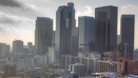 ideia enevoada de 4K UltraHD da skyline de Los Angeles video estoque