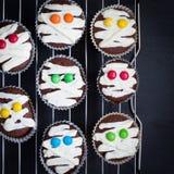 Ideia engraçada para a sobremesa de Dia das Bruxas Imagem de Stock